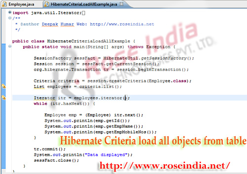 Hibernate Criteria load all objects from table