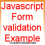 how to create a validation form in javascript