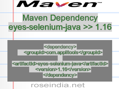 Maven dependency of eyes-selenium-java version 1.16