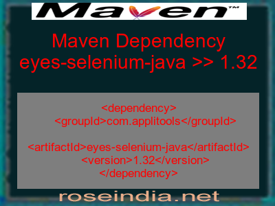 Maven dependency of eyes-selenium-java version 1.32