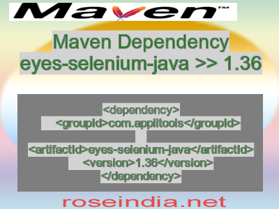 Maven dependency of eyes-selenium-java version 1.36