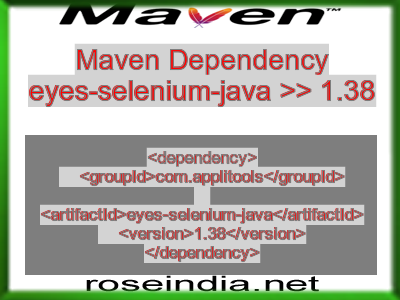 Maven dependency of eyes-selenium-java version 1.38