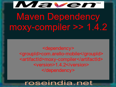 Maven dependency of moxy-compiler version 1.4.2