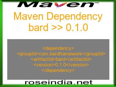 Maven dependency of bard version 0.1.0