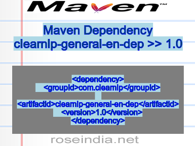 Maven dependency of clearnlp-general-en-dep version 1.0