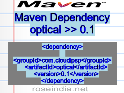 Maven dependency of optical version 0.1