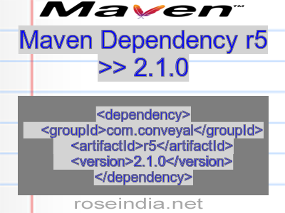 Maven dependency of r5 version 2.1.0