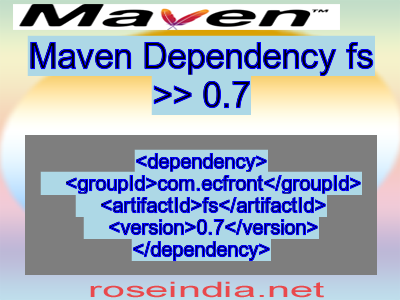 Maven dependency of fs version 0.7