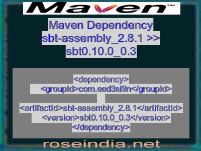 Maven dependency of sbt-assembly_2.8.1 version sbt0.10.0_0.3