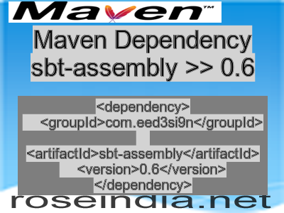 Maven dependency of sbt-assembly version 0.6