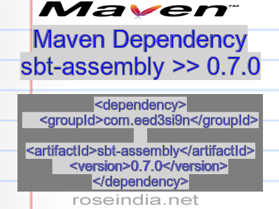 Maven dependency of sbt-assembly version 0.7.0