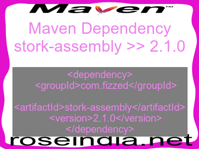 Maven dependency of stork-assembly version 2.1.0