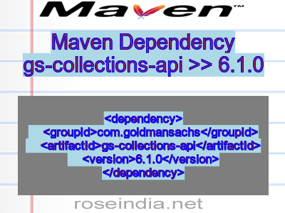 Maven dependency of gs-collections-api version 6.1.0