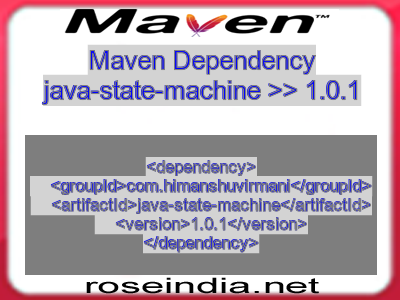 Maven dependency of java-state-machine version 1.0.1