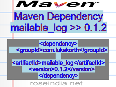 Maven dependency of mailable_log version 0.1.2
