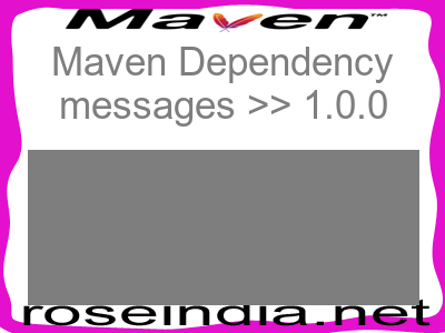 Maven dependency of messages version 1.0.0