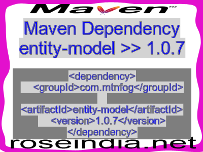 Maven dependency of entity-model version 1.0.7