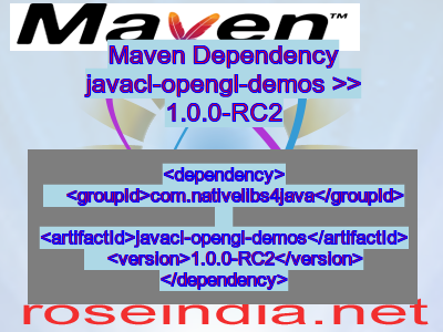 Maven dependency of javacl-opengl-demos version 1.0.0-RC2