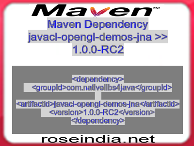 Maven dependency of javacl-opengl-demos-jna version 1.0.0-RC2