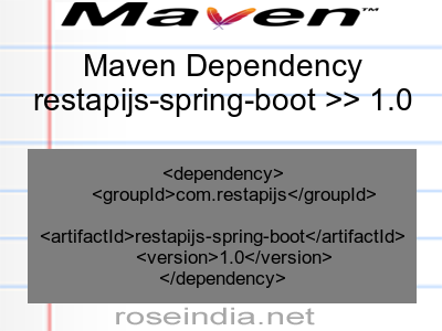 Maven dependency of restapijs-spring-boot version 1.0