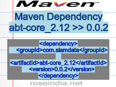 Maven dependency of abt-core_2.12 version 0.0.2