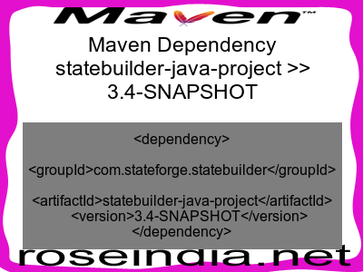 Maven dependency of statebuilder-java-project version 3.4-SNAPSHOT