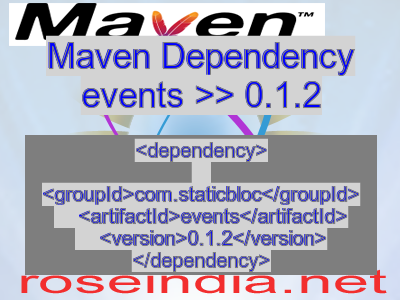 Maven dependency of events version 0.1.2