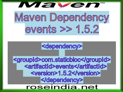 Maven dependency of events version 1.5.2