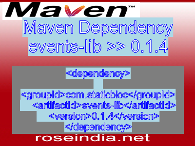 Maven dependency of events-lib version 0.1.4