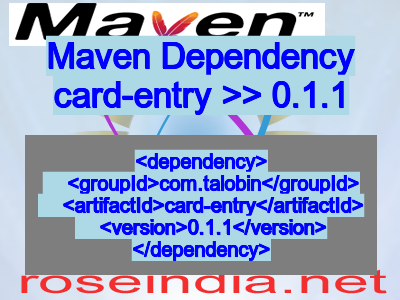 Maven dependency of card-entry version 0.1.1