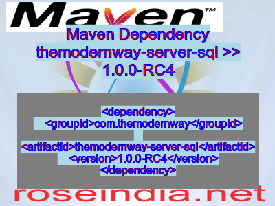 Maven dependency of themodernway-server-sql version 1.0.0-RC4