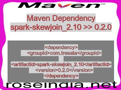 Maven dependency of spark-skewjoin_2.10 version 0.2.0