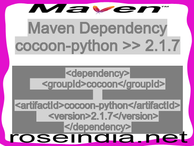 Maven dependency of cocoon-python version 2.1.7