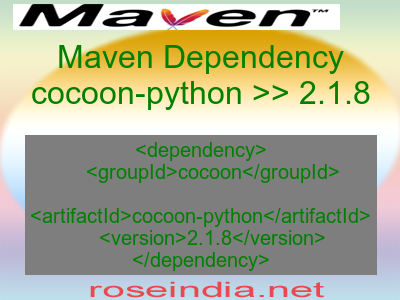 Maven dependency of cocoon-python version 2.1.8