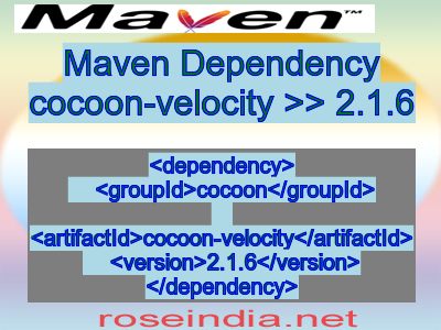 Maven dependency of cocoon-velocity version 2.1.6