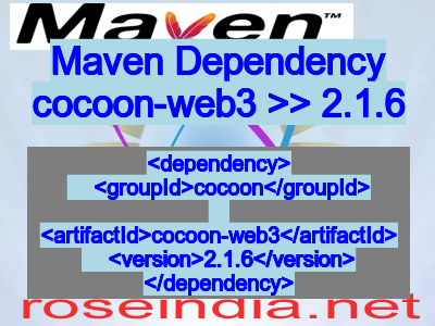 Maven dependency of cocoon-web3 version 2.1.6