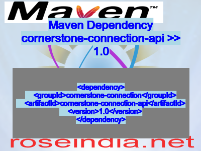 Maven dependency of cornerstone-connection-api version 1.0