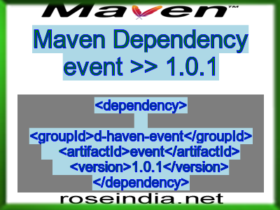Maven dependency of event version 1.0.1