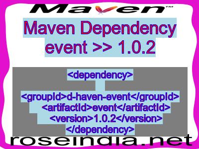 Maven dependency of event version 1.0.2