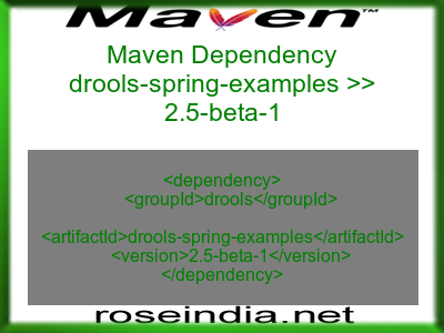 Maven dependency of drools-spring-examples version 2.5-beta-1