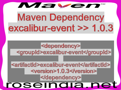 Maven dependency of excalibur-event version 1.0.3