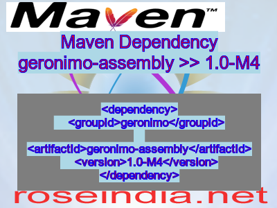 Maven dependency of geronimo-assembly version 1.0-M4