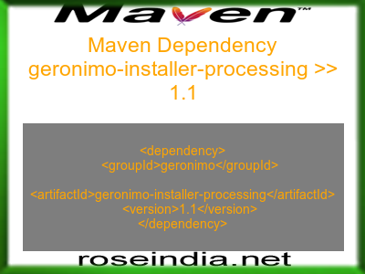 Maven dependency of geronimo-installer-processing version 1.1