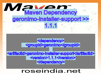 Maven dependency of geronimo-installer-support version 1.1.1