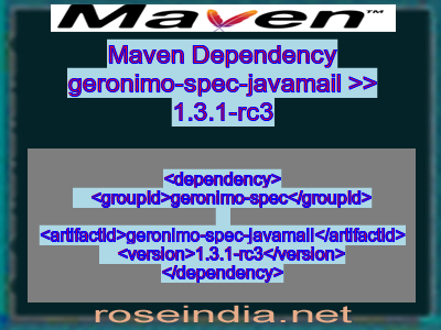 Maven dependency of geronimo-spec-javamail version 1.3.1-rc3