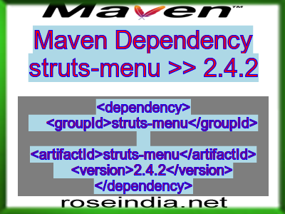 Maven dependency of struts-menu version 2.4.2