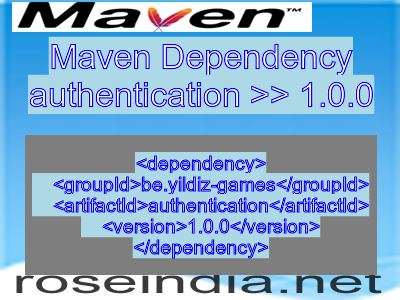 Maven dependency of authentication version 1.0.0