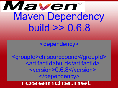 Maven dependency of build version 0.6.8