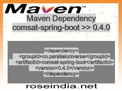 Maven dependency of comsat-spring-boot version 0.4.0