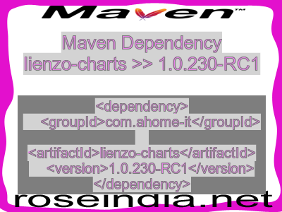 Maven dependency of lienzo-charts version 1.0.230-RC1